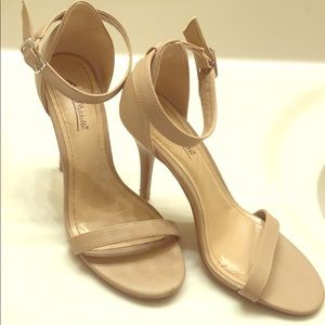 High heeled shoes - nude/beige - size 8